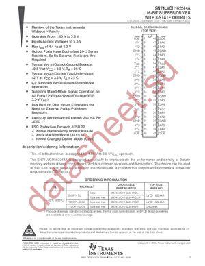 SN74LVCH162244ADGGR datasheet скачать даташит