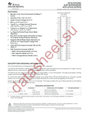 SN74LVCH16240A datasheet скачать даташит