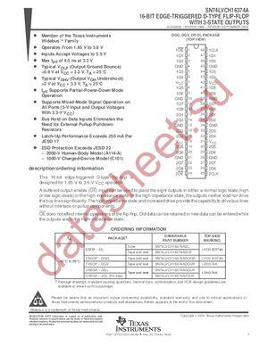 SN74LVCH16374A datasheet скачать даташит