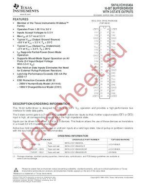 SN74LVCH16540A datasheet скачать даташит