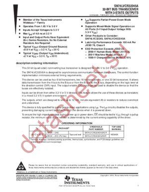 SN74LVCR32245A datasheet скачать даташит