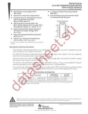 SN74LVT125PWLE datasheet скачать даташит