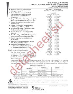 SN74LVT16646 datasheet скачать даташит