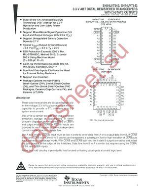 SN74LVT543NSR datasheet скачать даташит