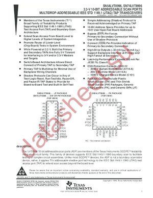 SN74LVT8996 datasheet скачать даташит