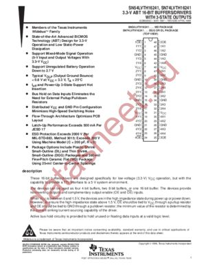 SN74LVTH16241 datasheet скачать даташит