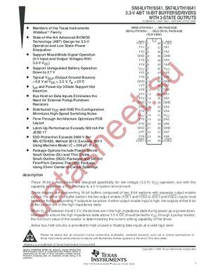SN74LVTH16541 datasheet скачать даташит