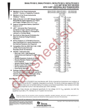 SN74LVTH182512 datasheet скачать даташит