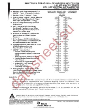 SN74LVTH182514 datasheet скачать даташит