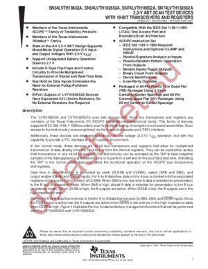 SN74LVTH182652A datasheet скачать даташит
