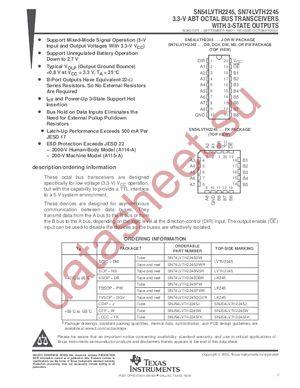 SN74LVTH2245 datasheet скачать даташит
