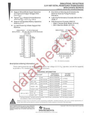 SN74LVTH543DBLE datasheet скачать даташит