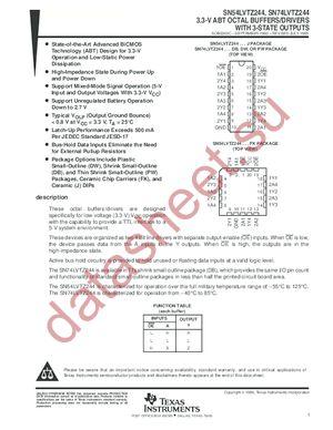 SN74LVTZ244PWLE datasheet скачать даташит