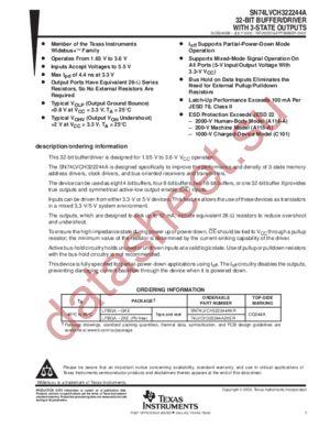 SN74LVCH322244A datasheet скачать даташит